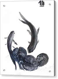 Acrylic Print featuring the painting Yin And Yang by Sibby S