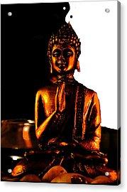 Yin Yang Buddha Acrylic Print