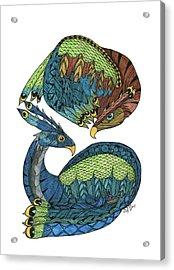 Yin Yang Dragons Acrylic Print