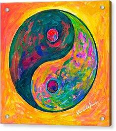 Yin Yang Flow Acrylic Print