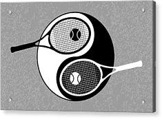 Yin Yang Tennis Acrylic Print