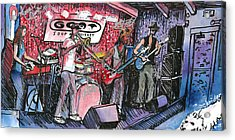 Yo Mammas Big Fat Booty Band Acrylic Print by David Sockrider