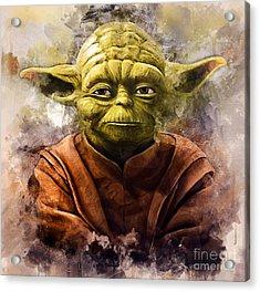 Yoda Art Acrylic Print