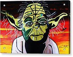 Yoda  Come Home Acrylic Print by Nora Shepley