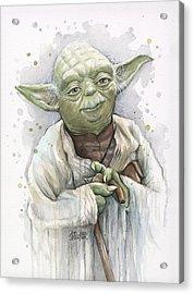 Yoda Acrylic Print by Olga Shvartsur