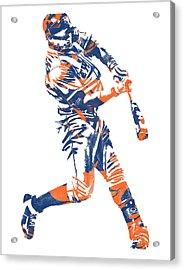 Yoenis Cespedes New York Mets Pixel Art 1 Acrylic Print