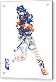 Yoenis Cespedes New York Mets Pixel Art 2 Acrylic Print