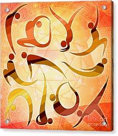 Yoga Asanas Acrylic Print