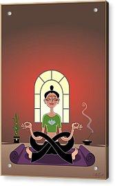 Yoga Pretzel Acrylic Print by Cristina McAllister
