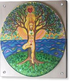 Yoga Tree Pose Acrylic Print