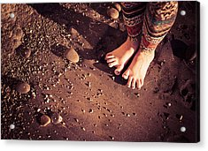 Acrylic Print featuring the photograph Yogis Toesies by T Brian Jones