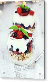 Yogurt Parfait Acrylic Print by Stephanie Frey