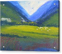 Acrylic Print featuring the painting Yonder by Trilby Cole