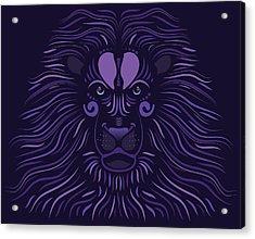 Yoni The Lion - Dark Acrylic Print