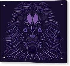 Yoni The Lion - Dark Acrylic Print by Serena King