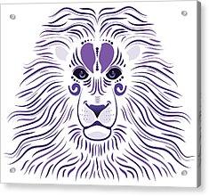 Yoni The Lion - Light Acrylic Print by Serena King