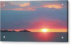 York Harbor At Dawn Acrylic Print by Lori Deiter