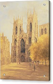 York Minster Acrylic Print by Peter Miller