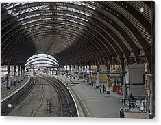 York Rail  Station  Northbound Acrylic Print