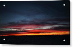 Yorkton Sunrise Acrylic Print by Ryan Crouse