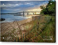 Yorktown Beach Sunrise Virginia Acrylic Print