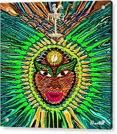 Yoruba Collection  Orula Acrylic Print by Andrea N Hernandez