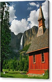 Yosemite Chapel Acrylic Print by Tom Kidd