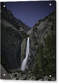 Yosemite Falls At Night Acrylic Print