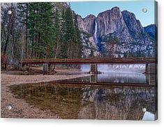 Yosemite Falls At The Swinging Bridge Acrylic Print