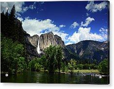 Yosemite Falls From Swinging Bridge Acrylic Print