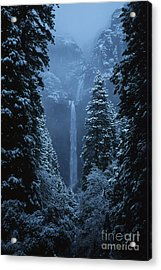 Yosemite Falls In January Acrylic Print by Stan and Anne Foster