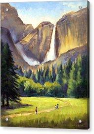 Yosemite Falls Acrylic Print by Karin  Leonard