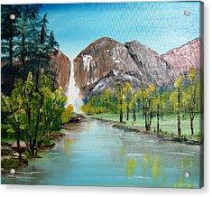 Yosemite Falls Acrylic Print by Larry Hamilton