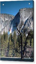 Yosemite Falls Rainbow 3 Acrylic Print by Richard Verkuyl