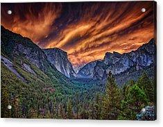 Yosemite Fire Acrylic Print