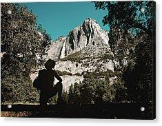 Acrylic Print featuring the photograph Yosemite Hiker by Marji Lang