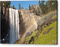 Yosemite Mist Trail Rainbow Acrylic Print