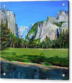 Yosemite National Park In The Spring Acrylic Print by Charles and Stacey Matthews