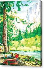 Yosemite Picnic Acrylic Print by Ray Cole