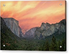 Acrylic Print featuring the photograph Yosemite - Red Valley by Francesco Emanuele Carucci