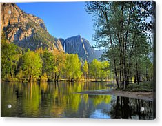 Acrylic Print featuring the photograph Yosemite Reflections by Kim Wilson