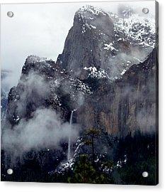 Yosemite Snowy Bridalveil Falls  Acrylic Print