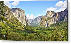 Yosemite Tunnel View Afternoon Acrylic Print
