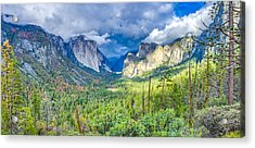 Acrylic Print featuring the photograph Yosemite Tunnel View Spring Storm by Scott McGuire