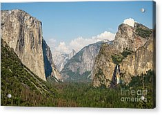 Yosemite Tunnel View With Bridalveil Rainbow By Michael Tidwell Acrylic Print