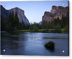 Yosemite Twilight Acrylic Print by Mike  Dawson