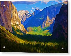 Yosemite Valley Acrylic Print by Dennis Cox WorldViews