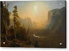 Yosemite Valley Glacier Point Trail Acrylic Print by Albert Bierstadt