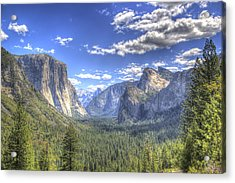 Yosemite Valley Hdr Acrylic Print