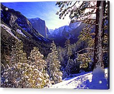 Yosemite Valley In Winter, California Acrylic Print